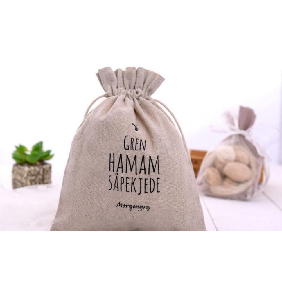 natural linen gift drawstring pouches 8x11cm 9x12cm 10x15cm pack of 50 party sack soap makeup jewelry gift packaging bags