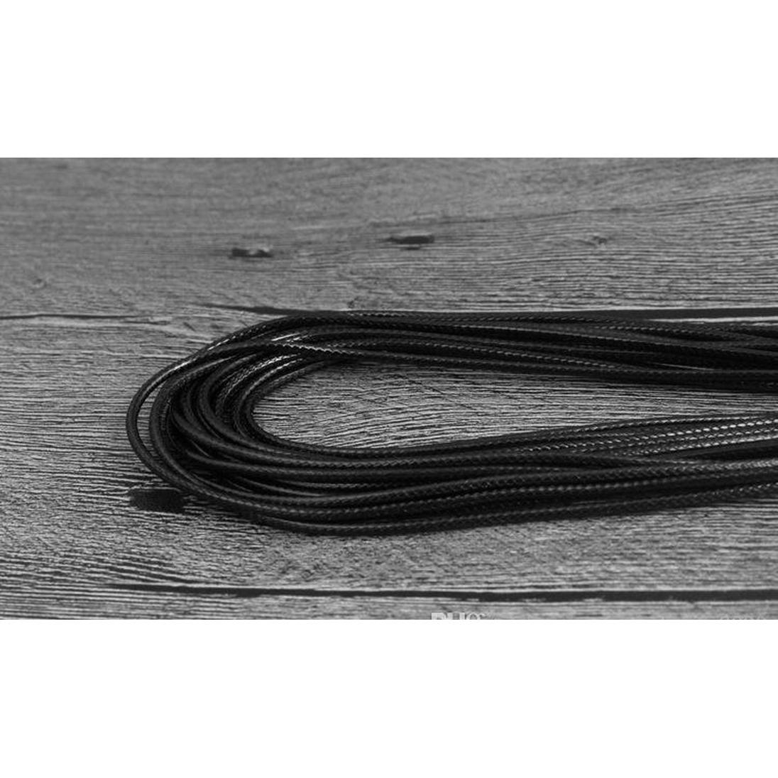 black wax leather snake necklace 45cm 60cm cord string rope wire extender chain with lobster clasp diy fashion jewelry component in