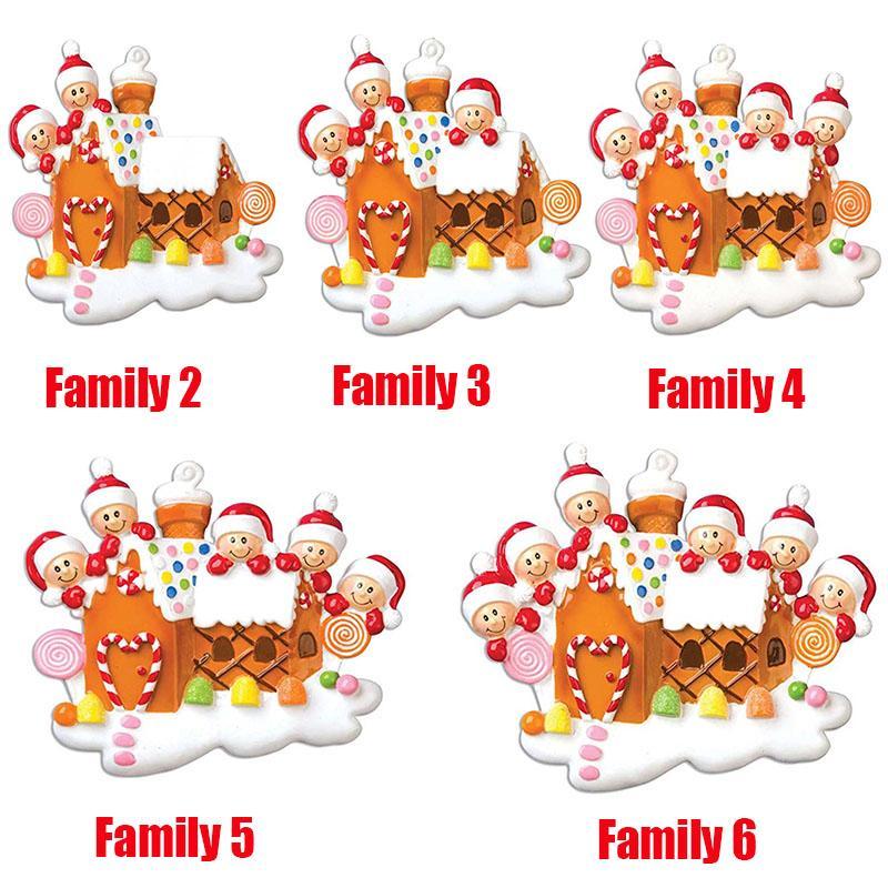 Natal Hot personalizado enfeites Sobrevivente Quarentena Família 2 3 4 5 6 Máscara do boneco de neve Sanitized Mão Xmas decoração criativa Pingente Brinquedos