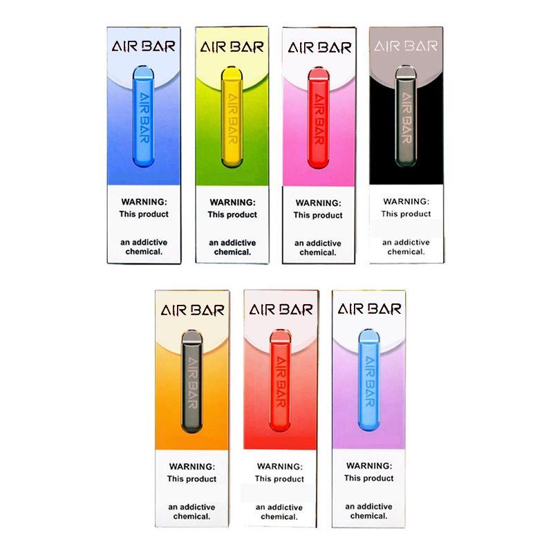 에어 바 일회용 포드 장치 된 1.8 mL Vape 펜 키트 380 mAh 배터리 500 퍼프 증기 전자 CIGS 휴대용 시스템 스타터 키트 0,268,180