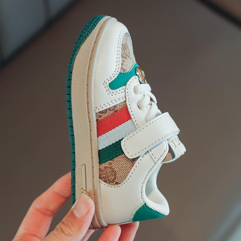 Весна и осень детей холст обувь мальчики девочки спортивные ботинки противоскользящие резиновые дна малыша детские модные кроссовки удобные дышащие 21-30