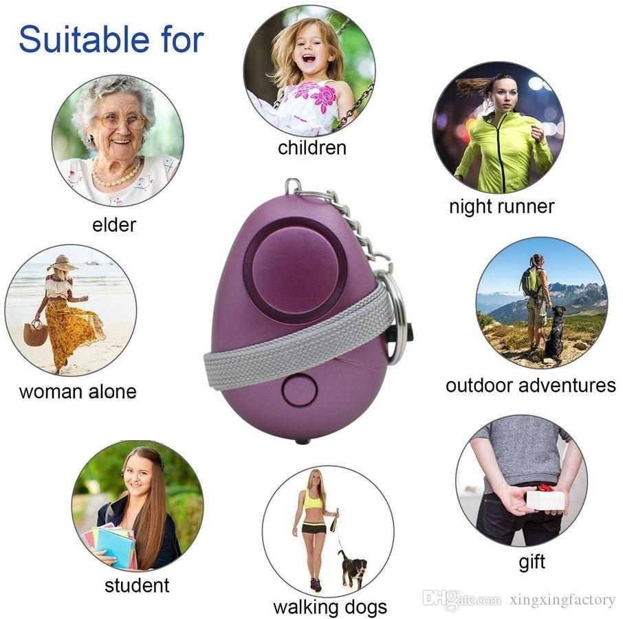 Personal Alarm Keychain Rape Attack Panic Safety Torch Keyring Security for protecting Women Kids students