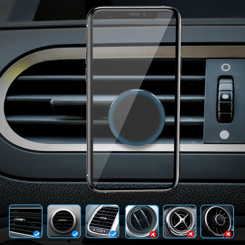 Supermagnetischer Autotelefonhalter für iPhone Samsung Xiaomi Huawei Air Vent Clip Smartphones-Stand