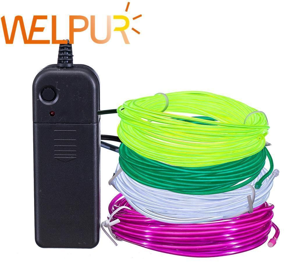 flexible neon light 1m 5m 3v glow el wire rope tape cable strip led neon lights shoes clothing car waterproof led strip bbykrx