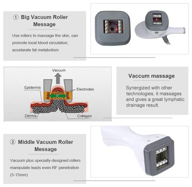 Body Slimming Roller Abnehmen Maschine Vakuumwalze RF Infarined Light RF Skin Anzugsmaschine Rollernachricht