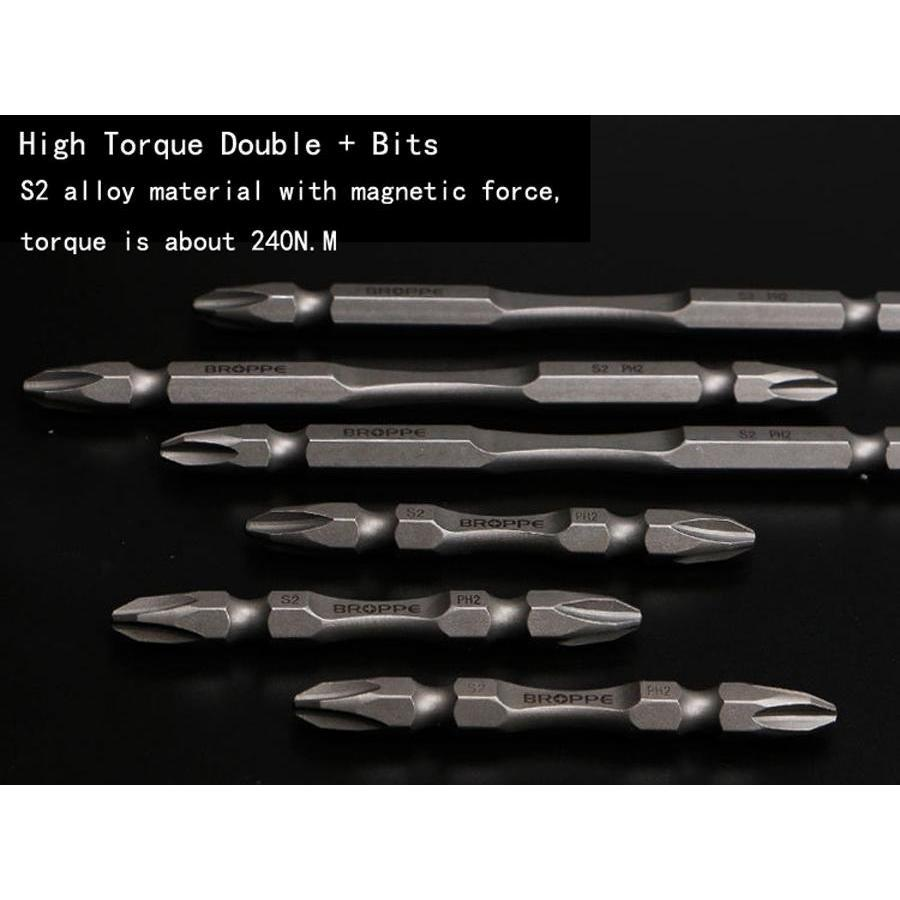 65-300 + phillips screwdriver s2 alloy steel material magnetic force electric screwdriver bits high quality long drill bits