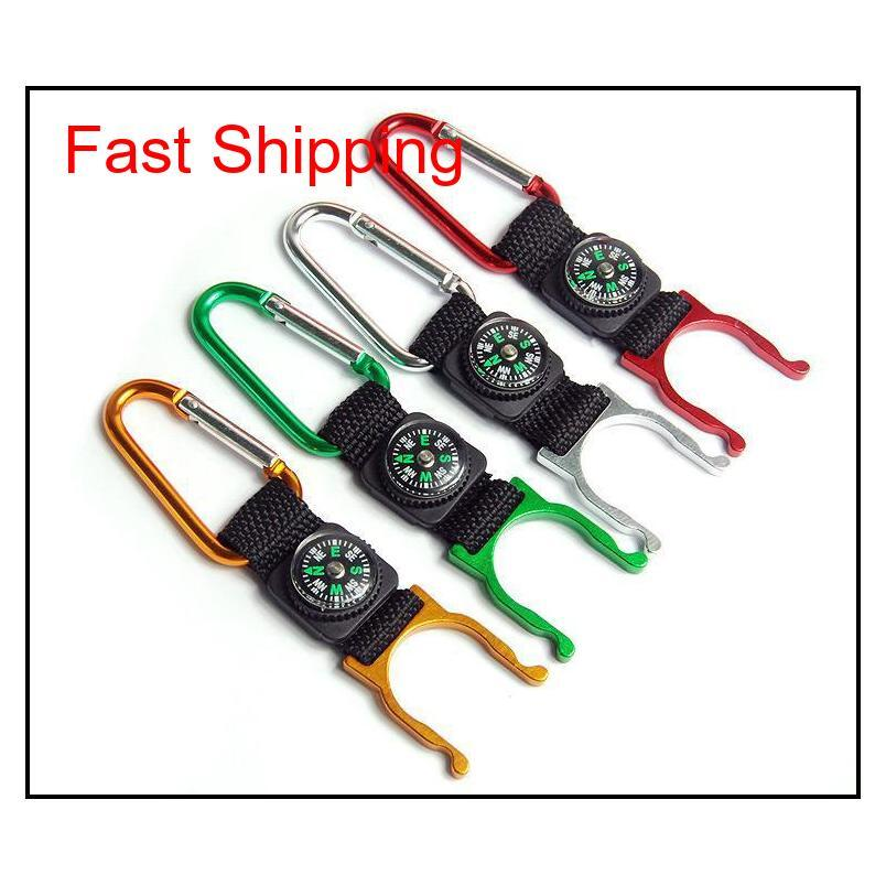 15 Pcs A Lot Carabiner Aquarius Buckle Outdoors Gear Gadgets Mountaineering Buckle With Compass Hiking Campang Fast Shipping 6Hey4 Gy5 Vulvs