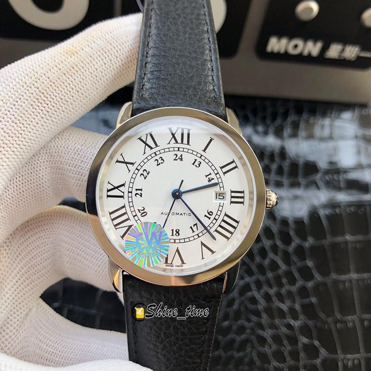 TW nuova versione migliore 42mm quadrante bianco dorato 316L cassa in acciaio inox w2rn0008 orologio da uomo 9015 orologi da cinturino automatico in pelle meccanica