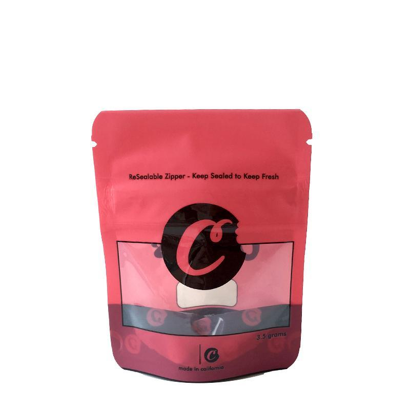 쿠키 Mylar 가방 캘리포니아 SF 8th 식용 420 건조 허브 꽃 포장 빨간색 파란색 쿠키 3.5 Resealable 냄새 증거 플라스틱 마일러 가방