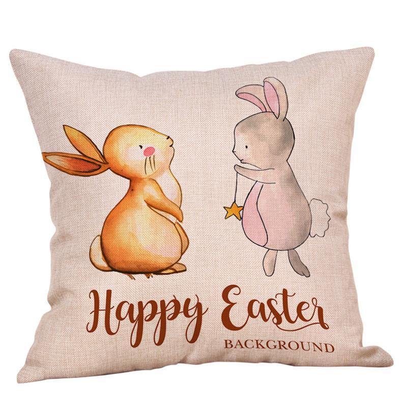 عيد الفصح الأرنب وسادة غطاء الذهب كوست متعدد الألوان وسادة حالة لغرفة النوم غرفة المعيشة أريكة سيارة الظهر وسادة 300 قطع T1I3490