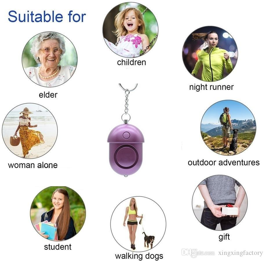 130db Personal Security Alarm Keychain Safety Emergency Alarm with LED Light and SOS Emergency Alarm for Elders Women Kids