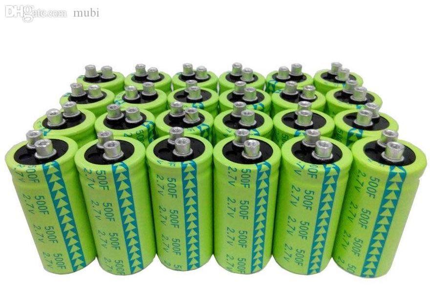 wholesale-6 x super capacitor 2.7v500f ultra capacitor