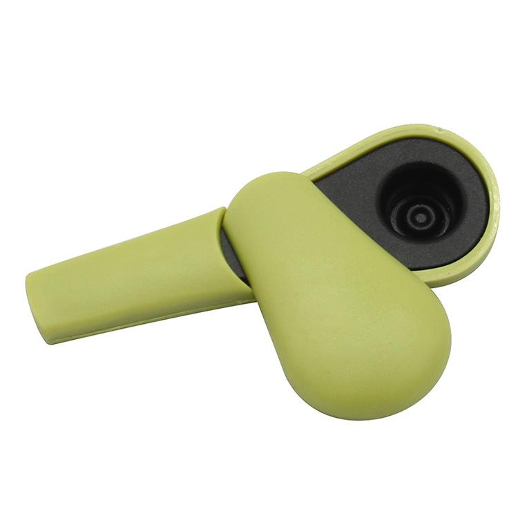 El nuevo tubo de cuchara de acero inoxidable de gel de sílice es removible en forma de cucharón en forma de silblo de gel de la cuchara para tubo de cigarrillo con accesorios para fumar T3i51651