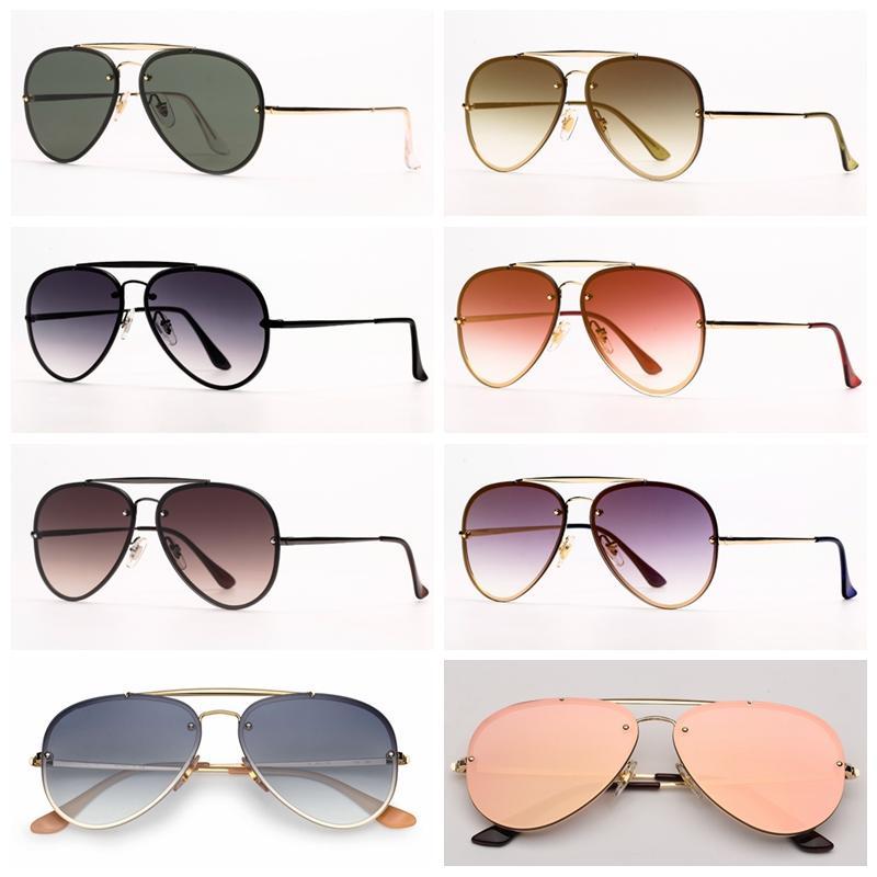 Mens Sunglasses Piloto Blaze Aviation Sunglass Moda Sun Óculos de proteção UV Lentes de proteção e estojo de couro livre, caixa de varejo Todos os acessórios!