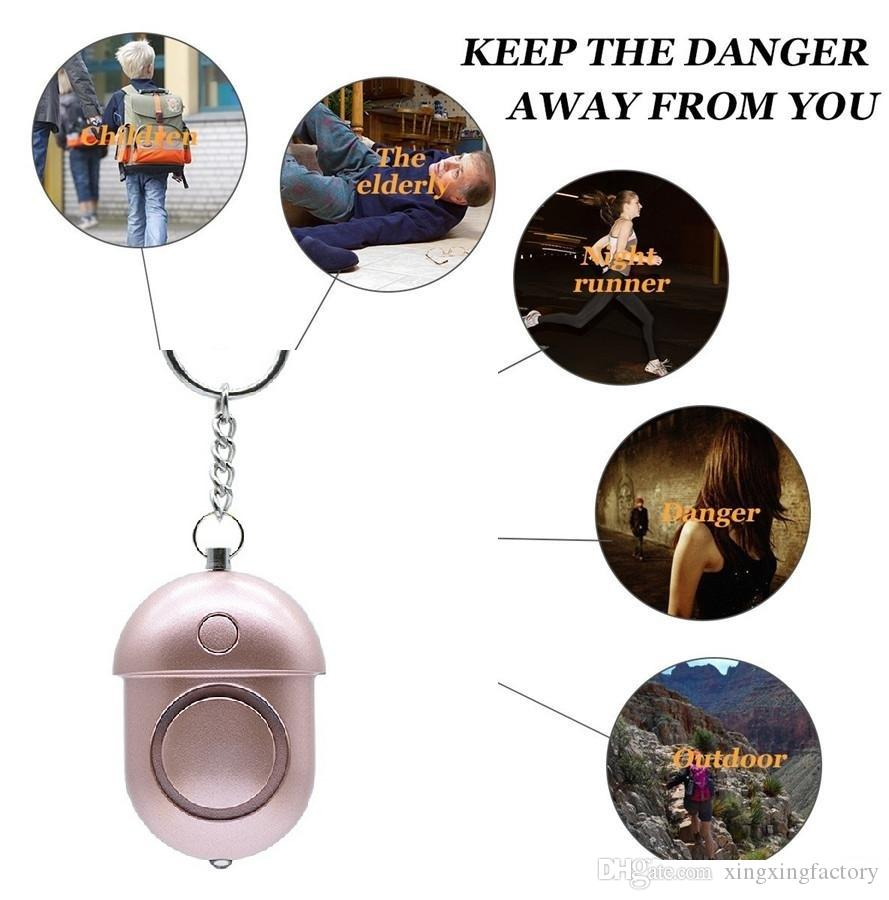 130db Personal Security Alarm Keychain Safety Emergency Alarm with LED Light and Keychain Alarm for Elders Women Kids