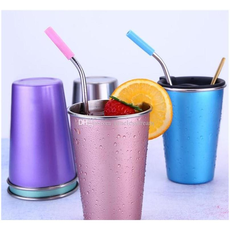 ins style beer cup durable water cup colorful coffee mug stainless steel tumbler 5 colors to choose