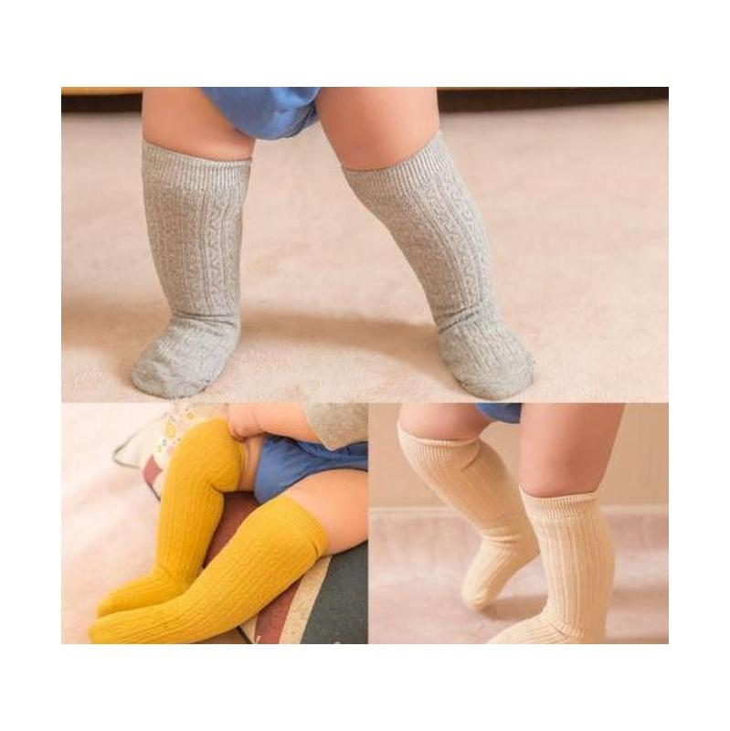 baby toddler girls knee high socks tights leg cotton warmer stockings for 0-3y hot new baby girl candy color knit stockings