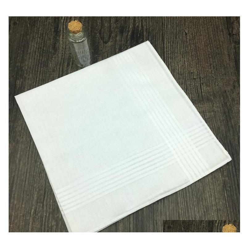 100% cotton handkerchief high quality 38cm men square handkerchief full white men hanky pocket squares c184