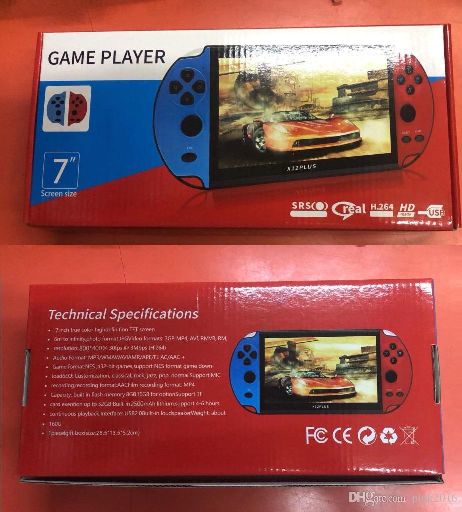 X12 PLUS Videospiel-7inch LCD Doppel Rocker Tragbarer Retro-Spiele-Konsole Videospiel-Spieler für GBA SFC MD Arcade Retro Spiele
