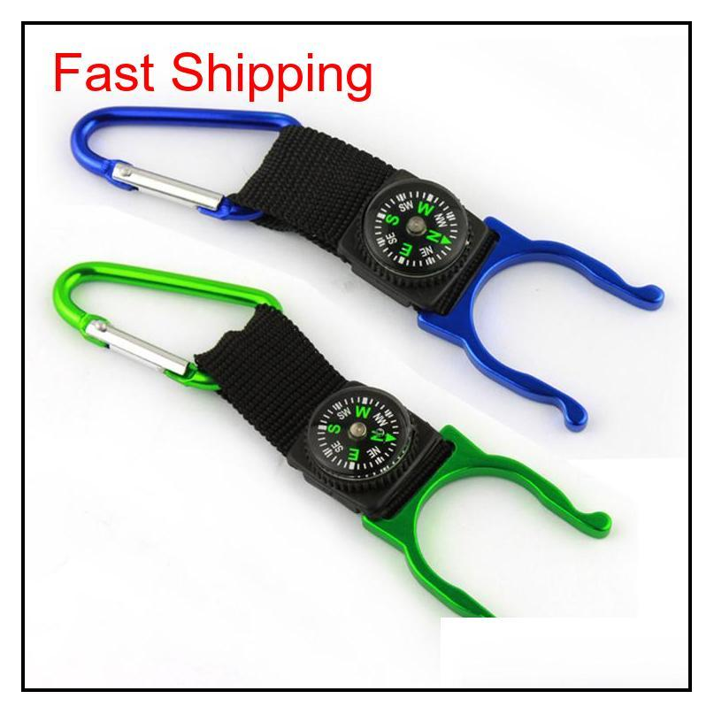 15 Pcs A Lot Carabiner Aquarius Buckle Outdoors Gear Gadgets Mountaineering Buckle With Compass Hiking Campang Fast Shipping Mwzd8 1Xa Spqv6