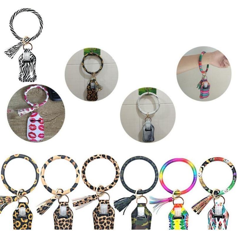 neoprene hand sanitizer bottle holder keychain bags key rings hand soap bottle holder printed chapstick holder party favor ooa8315