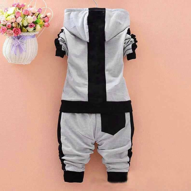 Toddler Bébé Baby Girls Brand Costumes Veste de sport Enfants + Pantalons / Ensembles Vêtements Set Enfants Suivi