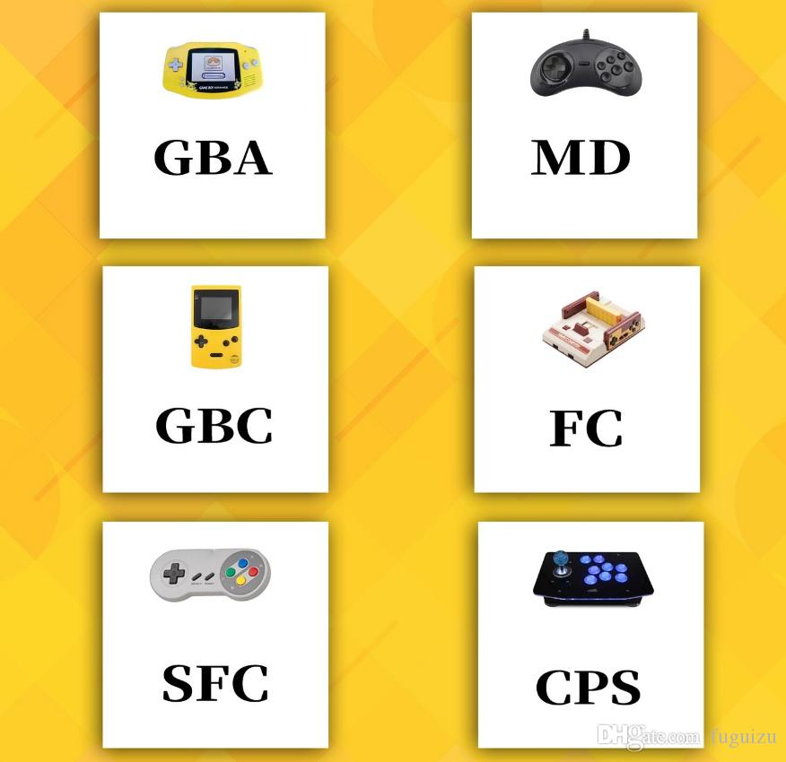 5.1 Polegada HD tela 8g ROM X7 mais Duplo Rocker Handheld Game Player Retro Handheld Jogo Console 32/64/128 Bit Video MP5 MD SFC GBA PAP Jogo