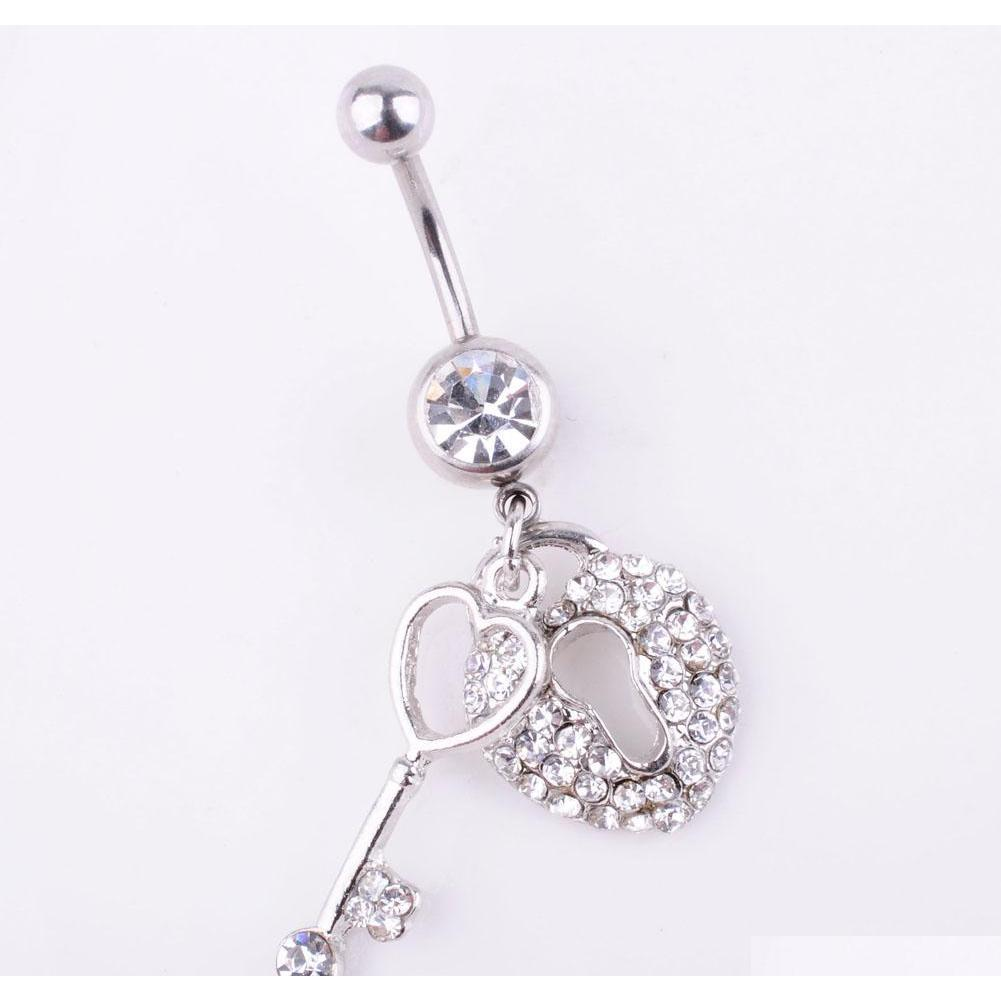 d0024 ( 1 color ) the key and lock styles belly button navel belly rings with mix colors wholesale prices belly ring