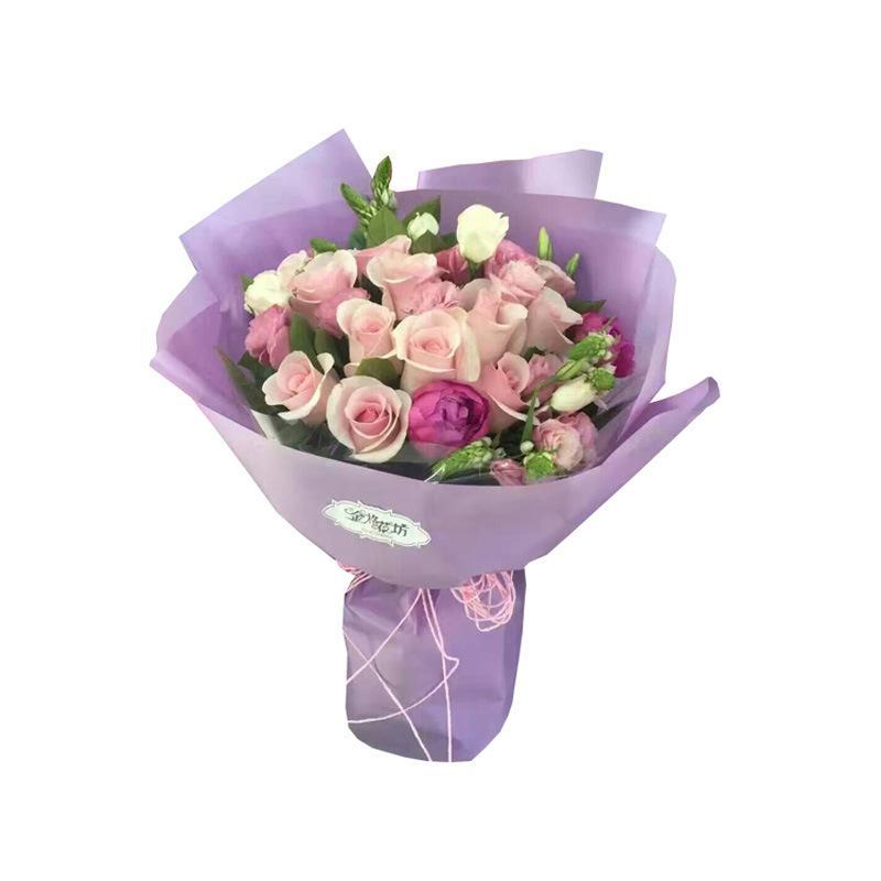 / 세트 종이 스타 컬러 안개가 자욱한 종이 신선한 꽃 가게 포장지 농축 방수 포장재 T3I51554