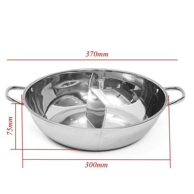 30cm stainless steel hot pot shabu shabu dual site induction gas stove compatible home kitchen cookware soup cooking pot