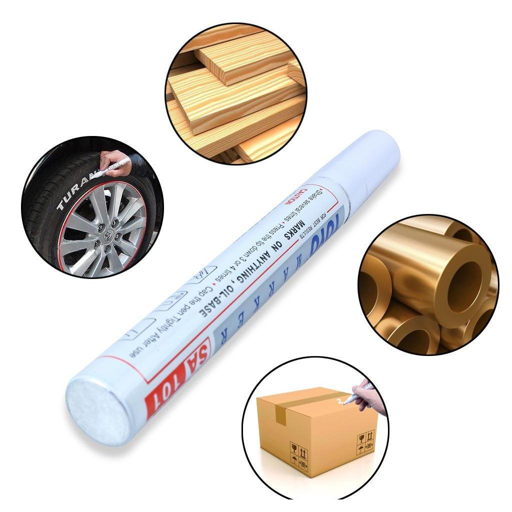 tyre marker pen permanent paint car tire pens universal waterproof tread rubber metal white color drop ship