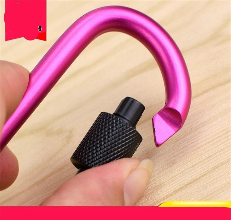 8cm d type carabiner with lock quick hanging nut buckle hanging buckles aluminum backpack hanging