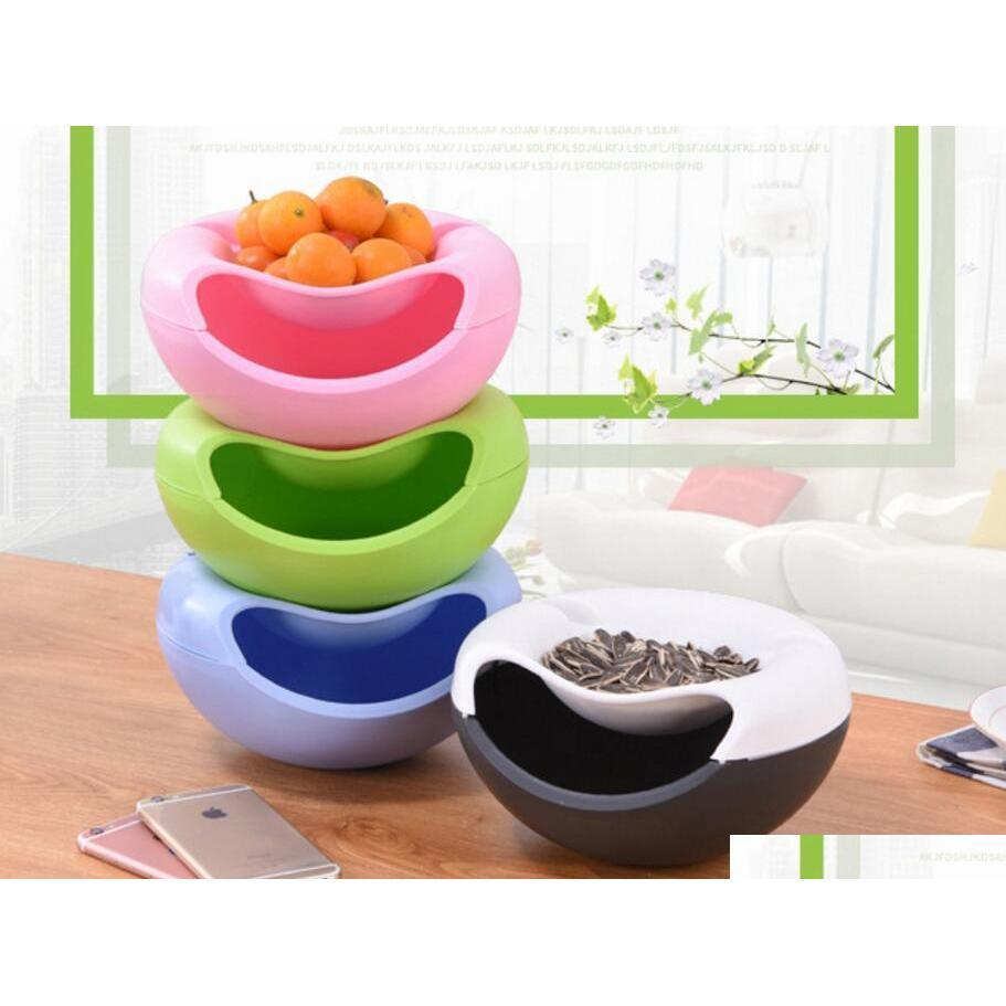 creative lazy fruit plate melon plastic seeds bowl