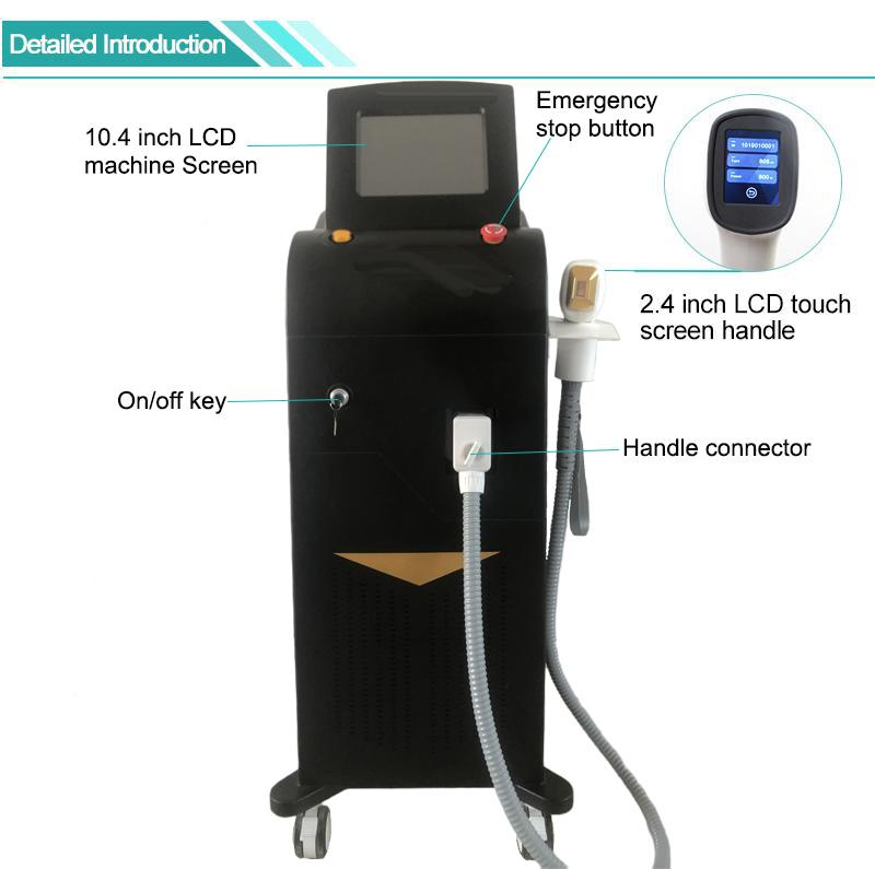 808 diode laser machine permanent hair removal 808nm diode laser freeze treatment 810 laser hair removal