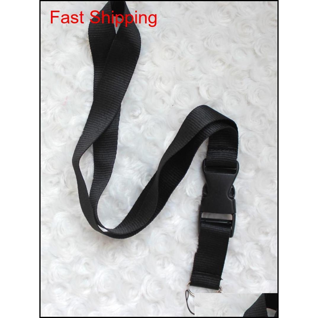 Lanyards Clothes Cellphone Lanyards Key Chain Necklace Work Id Card Neck Fashion Strap Custom Logo Black For Phone 24 Colors Ksfpv Kak U042Z