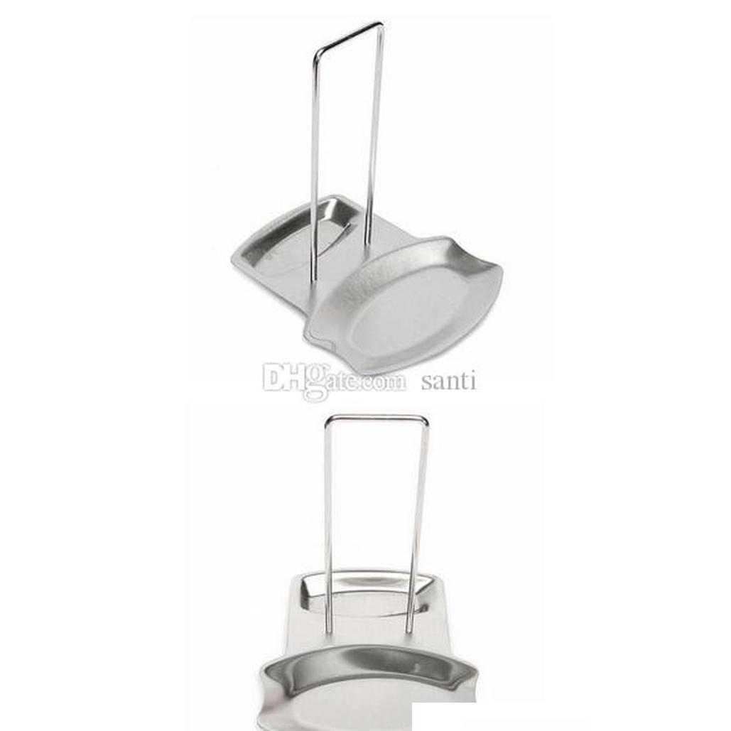 dining kitchen accessories stainless steel pot lid shelf kitchen organizer pan cover lid rack stand sponge spoon holder dish rack