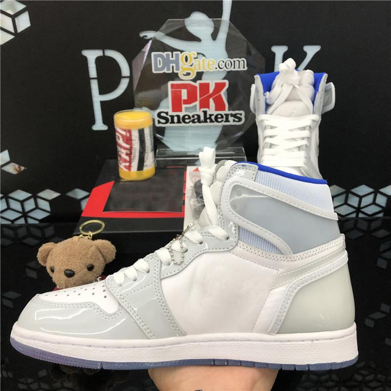 Top Quality Tie Dye Smoke Grey Game Royal Chicago Jumpman 1 Basketball Shoes Twist Zoom Obsidian Fearless UNC Bio Hack Sport Sneakers