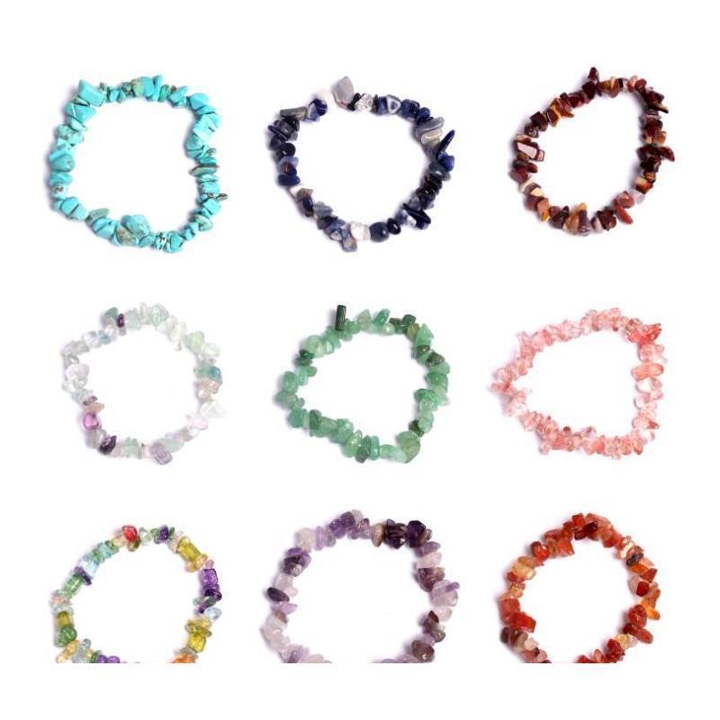 natural healing crystal bracelet sodalite chip gemstone 18cm stretch bracelet natural stone bracelets mixed gemstone chakra bracelet