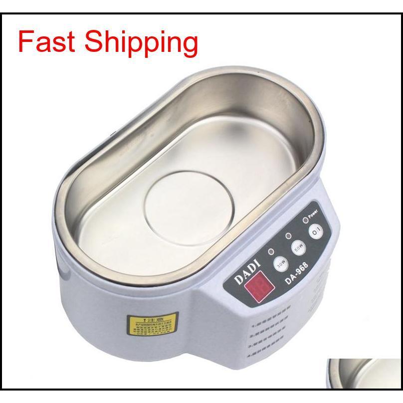 ultrasonic cleaner 600ml intelligent control 30w/50w digital mini ultrasonic cleaner bath for jewelry glasses cleaning +nb