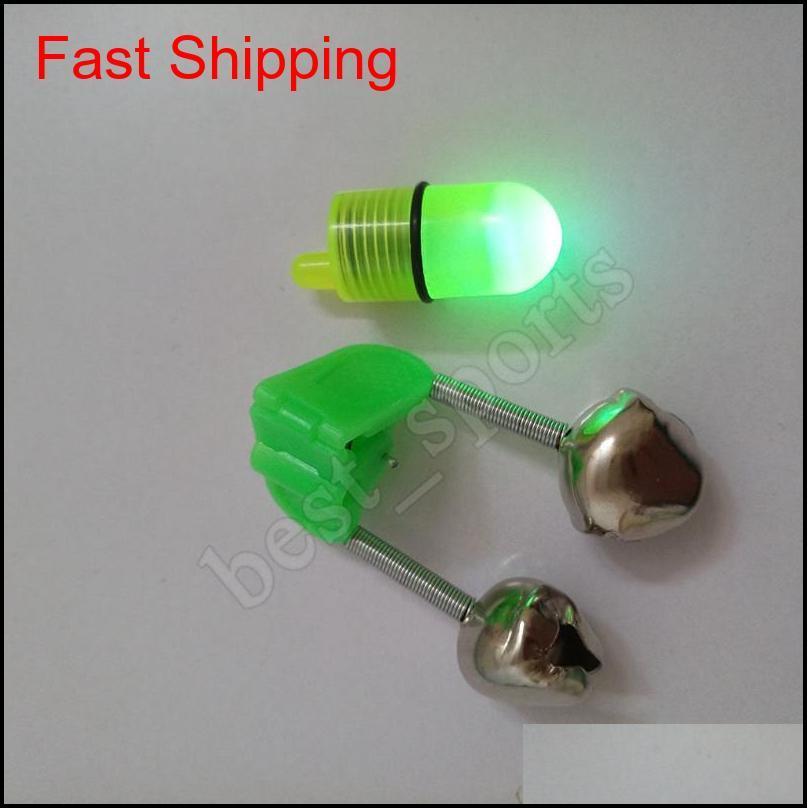 electronic luminous night fishing double bell light green light glare fishing bell fish bite bait alarm ljjz491
