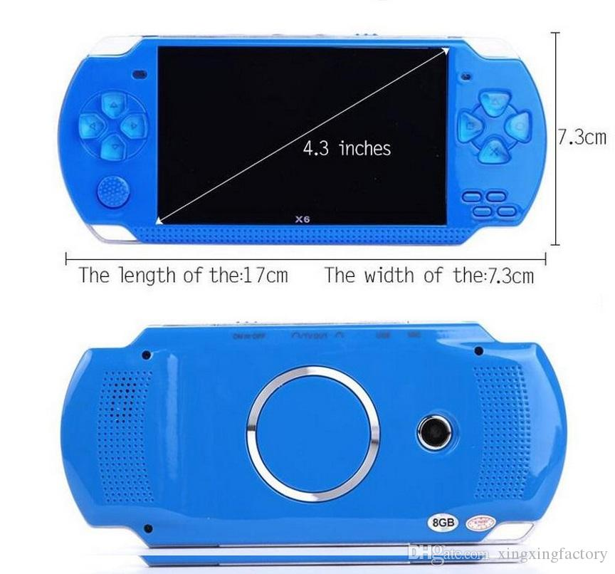 PMP X6 Handheld Game Console Screen 4.3 inch 8GB For PSP Game Store Classic Games TV Output Portable Video Game Player