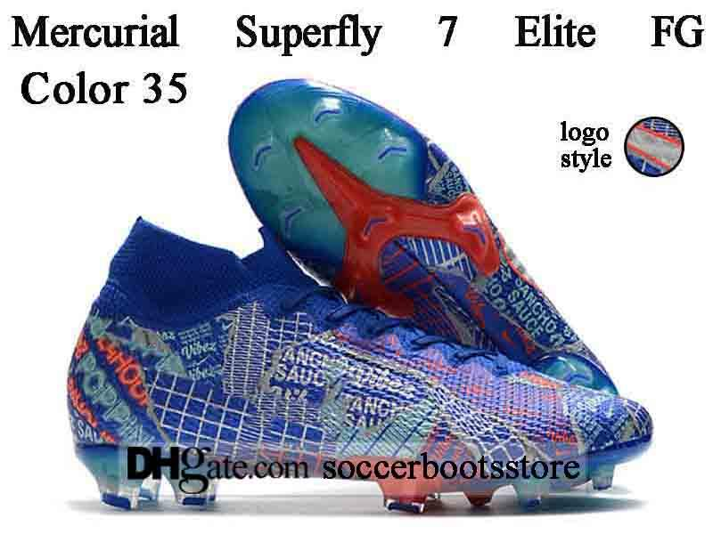 GIFT BAG Mens High Tops Football Boots CR7 Mercurial Superfly 7 Elite FG Soccer Shoes Superfly VII 360 Neymar ACC Soccer Cleats