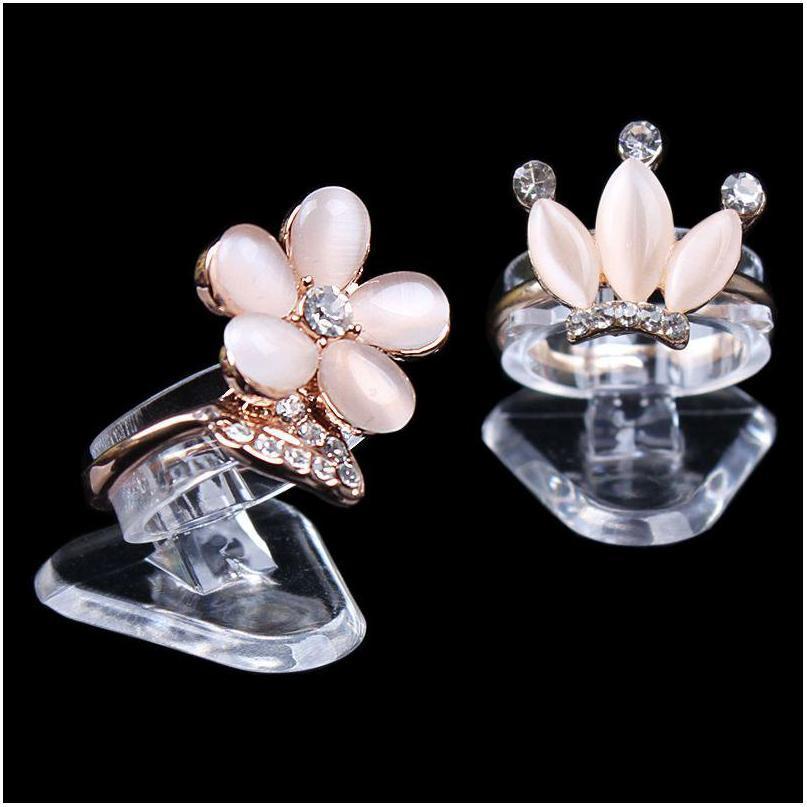Economic Clear Ultra Mini Plastic Ring Holder Ring Display Stand Jewelry Rack Jewelry Display Stand Props Blryl V0M4V Zldm2 9Jo10 Yjxm Ltioj