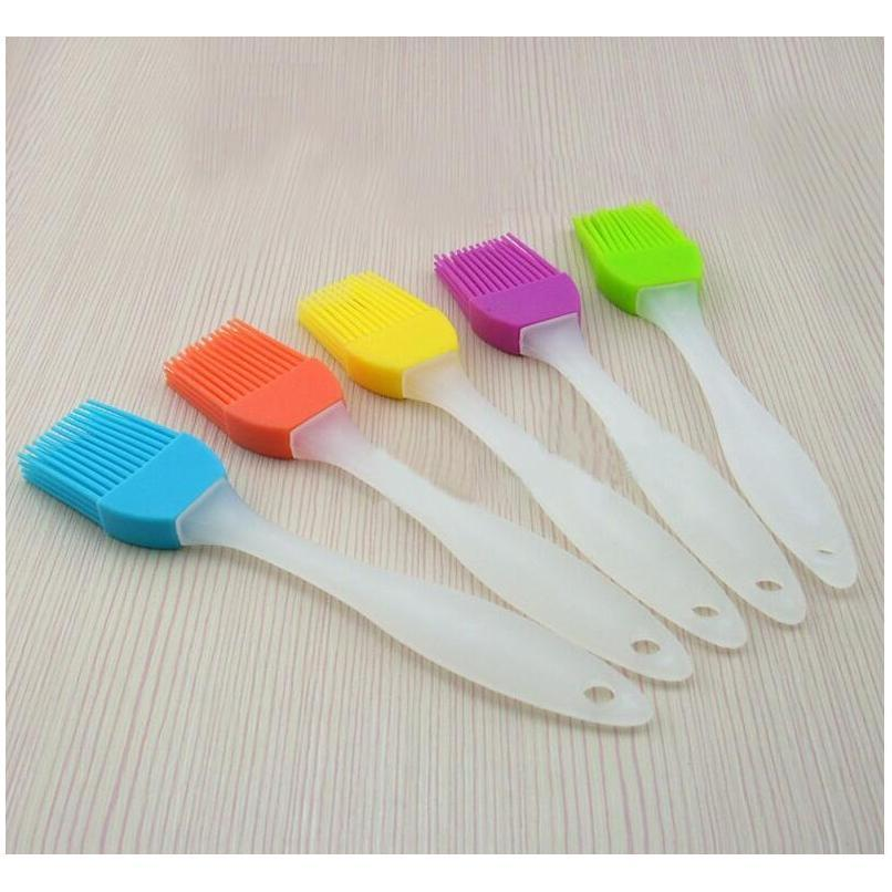 food grade silicone barbecue brush oil brush butter brushes silicone temperature resistant brush mixed color wholesale random send