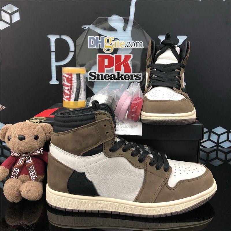 Top Quality Dark Mocha Jumpman 1 1S Homens Mulheres Basquetebol Shoes Obsidian UN Unc Twist Sapatos Zoom Não Fearlerless Bio Hack Outdoor Sport Sneakers