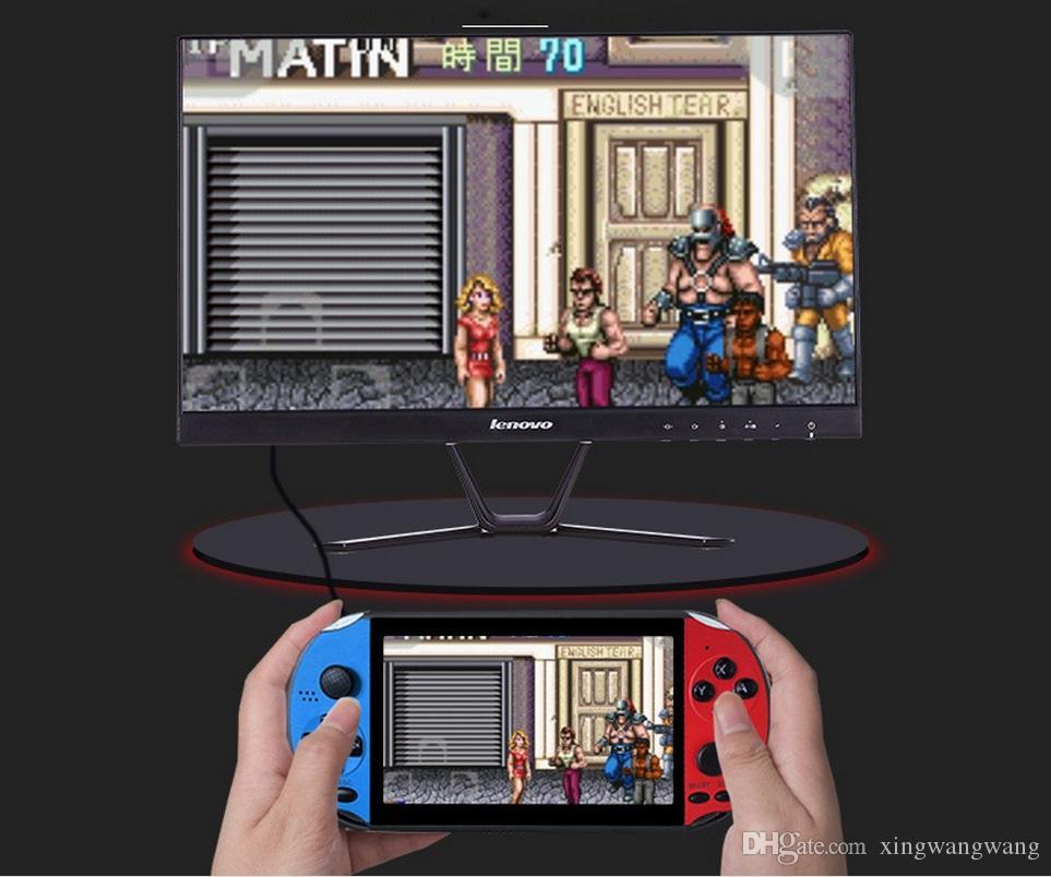 X12 محمول لاعب لعبة 8GB الذاكرة المحمولة الفيديو أنظمة تشغيل مع 5.1