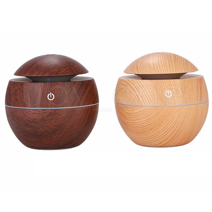wood grain essential humidifier aroma oil diffuser ultrasonic wood air humidifier usb mini mist maker led lights for home office