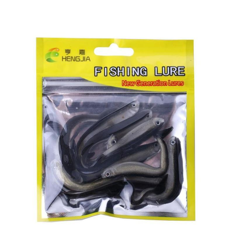 new lifelike live shad baitfish minnow soft lure 8cm 2.2g supple silicone rubber real bait fish 10pc/lot