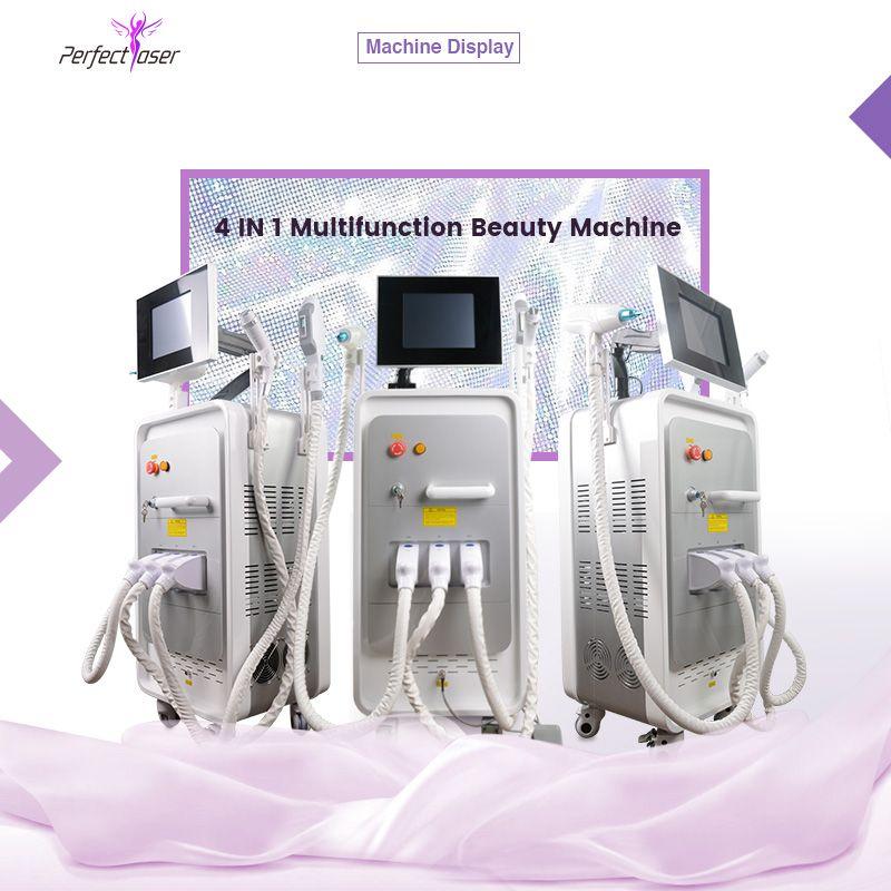 4 in 1 ipl light hair removal yag laser 532nm 1064 1320 tattoo removal rf skin lifting ipl machines 3 handles