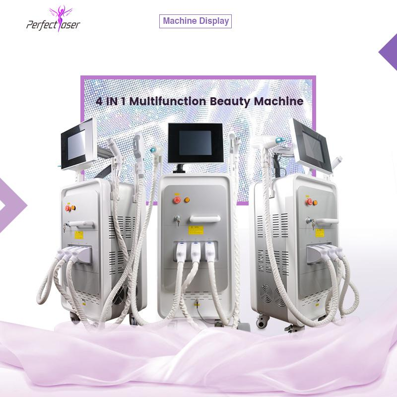 Best ipl freckle removal yag laser sale ipl rf skin tightening 4 in 1 multifunctional machine 3 handles
